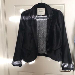 Anthropologie Black Velvet Cartonnier Blazer